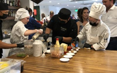 CSFTW Chefs and Students Prepare Food for Sake Tasting Event