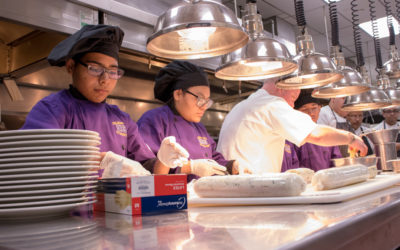 Everman High School's Advanced Culinary Class Visits The Fort Worth Club